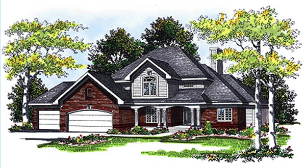 Country House Plan 99133 Elevation
