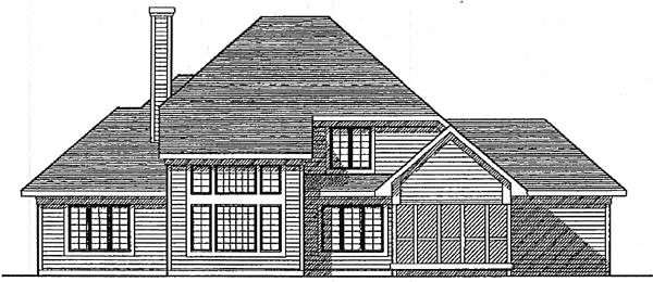 Country House Plan 99133 with 3 Beds, 3 Baths, 3 Car Garage Rear Elevation