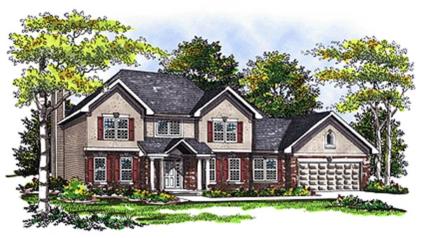 Country House Plan 99134 Elevation