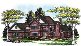House Plan 99136 | Tudor Style Plan with 3093 Sq Ft, 4 Bedrooms, 4 Bathrooms, 3 Car Garage Elevation