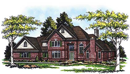 Tudor House Plan 99136 Elevation