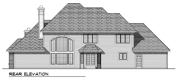 Tudor House Plan 99136 Rear Elevation
