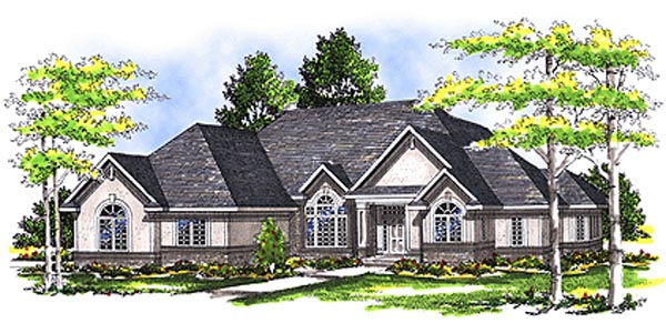 European House Plan 99138 Elevation