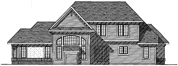 European House Plan 99138 Rear Elevation