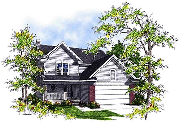 House Plan 99139 | Country Style Plan with 1872 Sq Ft, 4 Bedrooms, 3 Bathrooms, 2 Car Garage Elevation
