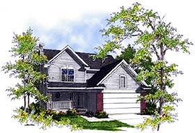 Country House Plan 99140 with 3 Beds, 3 Baths, 2 Car Garage Elevation