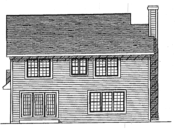 Country Rear Elevation of Plan 99140