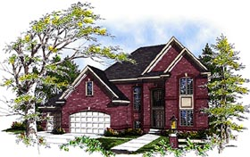 House Plan 99142 | European Style House Plan with 2592 Sq Ft, 3 Bed, 3 Bath, 3 Car Garage Elevation