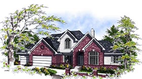 European House Plan 99143 with 3 Beds, 3 Baths, 3 Car Garage Elevation