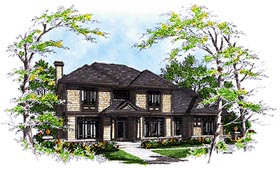 Bungalow , Colonial House Plan 99144 with 3 Beds, 3 Baths, 2 Car Garage Elevation