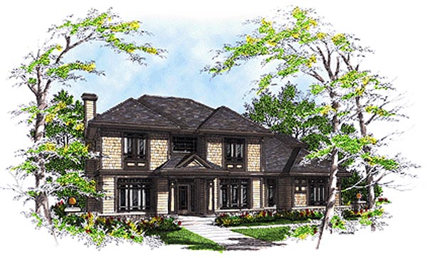 Bungalow Colonial House Plan 99144 Elevation