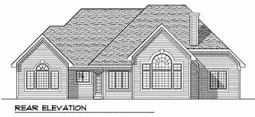 European House Plan 99146 Rear Elevation