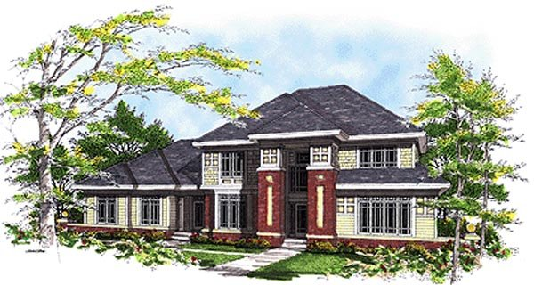 Colonial House Plan 99147 Elevation