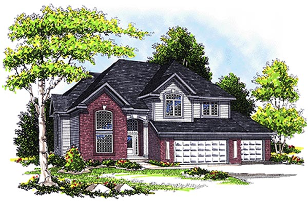 European House Plan 99148 Elevation