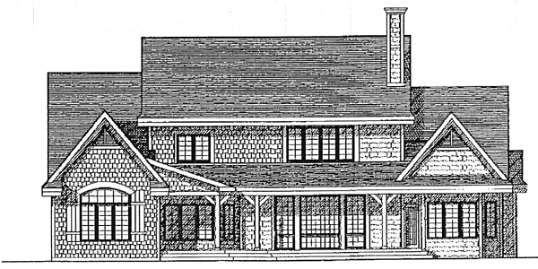 Tudor House Plan 99149 Rear Elevation
