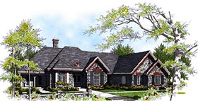 Bungalow European House Plan 99150 Elevation