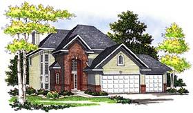 European House Plan 99153 Elevation