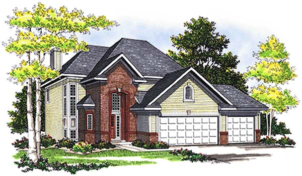 European House Plan 99153 Elevation