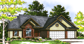 European Ranch House Plan 99154 Elevation