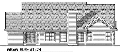 European Ranch House Plan 99154 Rear Elevation