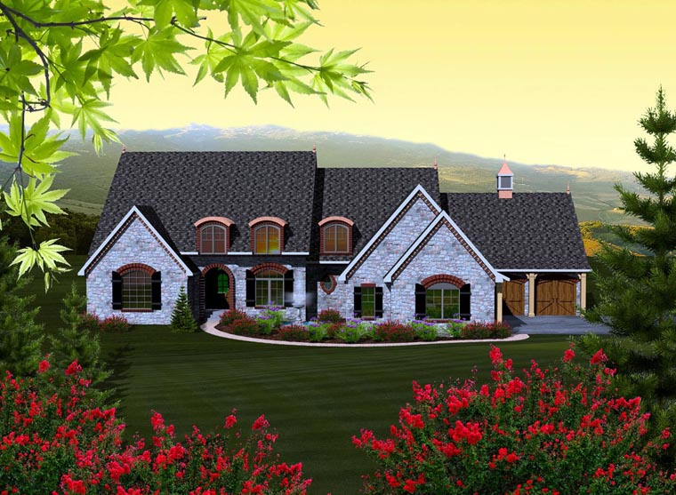 House Plan 99156 Elevation