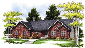Ranch House Plan 99157 Elevation
