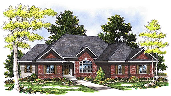 European House Plan 99158 Elevation