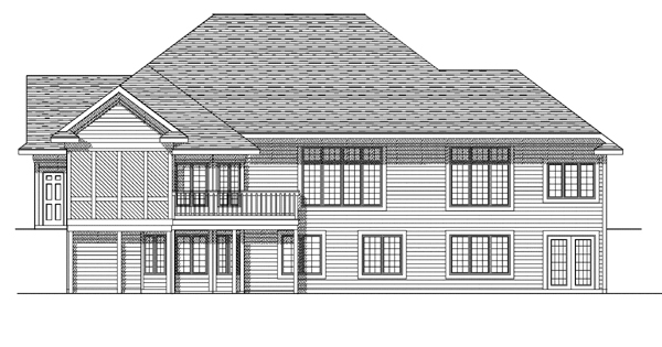 European House Plan 99158 Rear Elevation
