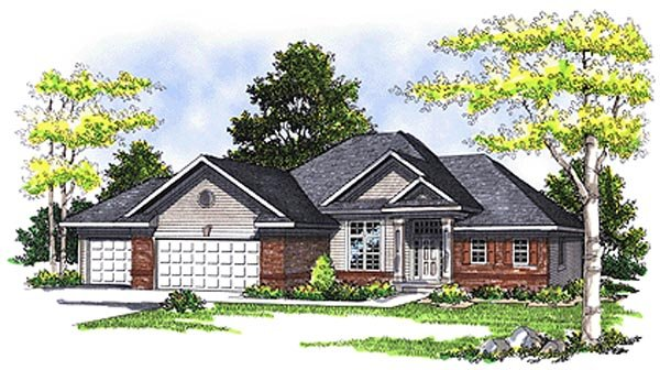House Plan 99160 | European Style Plan with 2731 Sq Ft, 3 Bedrooms, 3 Bathrooms, 3 Car Garage Elevation