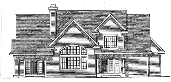 Cape Cod Country House Plan 99161 Rear Elevation