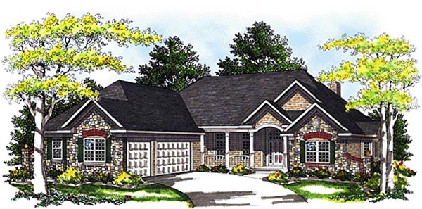 Bungalow House Plan 99162 Elevation