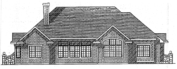 Bungalow House Plan 99162 Rear Elevation