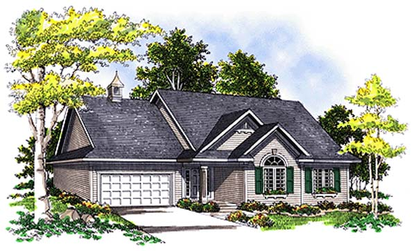 European Traditional House Plan 99163 Elevation