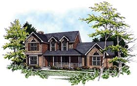European , Country , Bungalow House Plan 99164 with 3 Beds, 3 Baths, 2 Car Garage Elevation