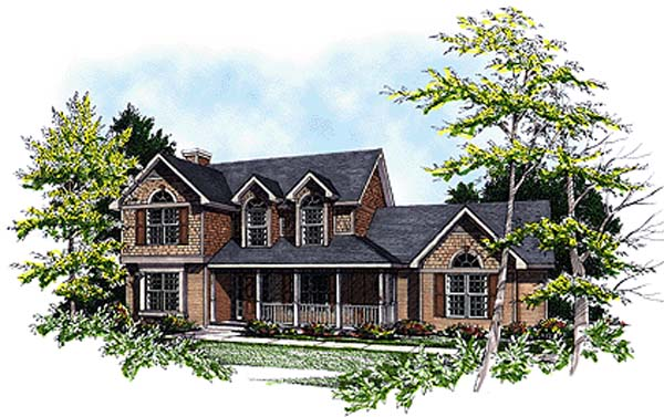 Bungalow Country European House Plan 99164 Elevation
