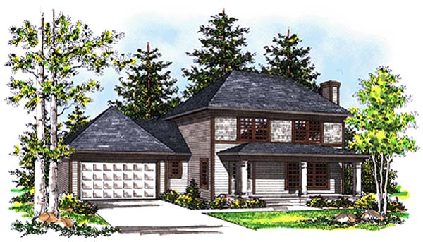 Colonial House Plan 99166 Elevation