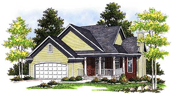 Country House Plan 99168 with 3 Beds, 3 Baths, 2 Car Garage Front Elevation