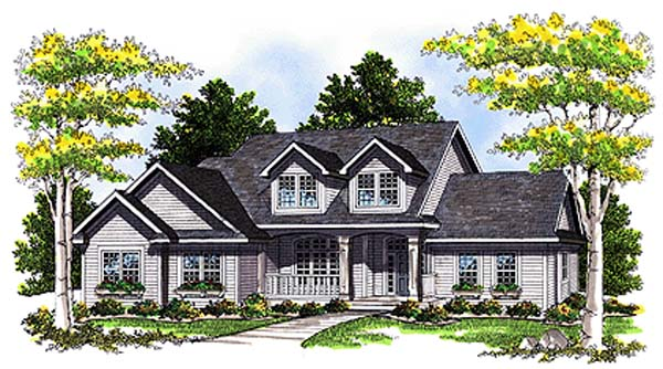 Cape Cod, Country House Plan 99169 with 3 Beds, 3 Baths, 2 Car Garage Elevation