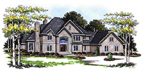 European Tudor House Plan 99170 Elevation