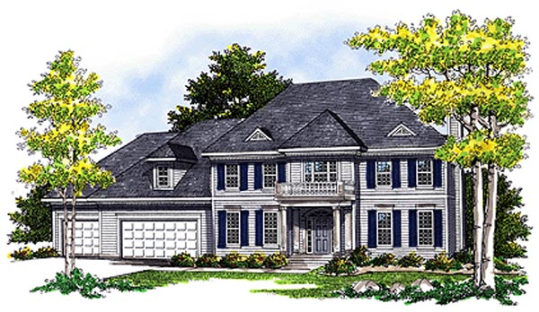 Colonial European House Plan 99172 Elevation
