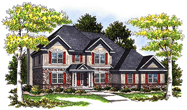 Bungalow European Tudor House Plan 99173 Elevation