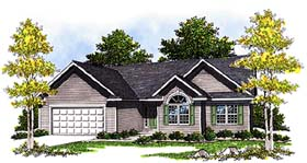 House Plan 99175 | Ranch Style Plan with 1649 Sq Ft, 3 Bedrooms, 2 Bathrooms, 2 Car Garage Elevation