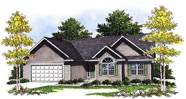 Ranch House Plan 99175 Elevation