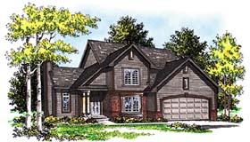 Bungalow Country House Plan 99176 Elevation
