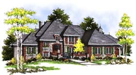 European Tudor House Plan 99177 Elevation