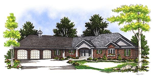 Ranch House Plan 99178 Elevation