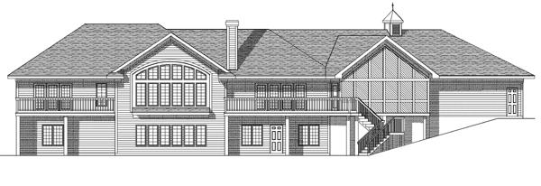 Ranch House Plan 99178 Rear Elevation