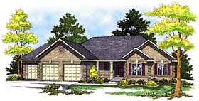 House Plan 99180 | Traditional Style Plan with 1640 Sq Ft, 3 Bedrooms, 2 Bathrooms, 3 Car Garage Elevation