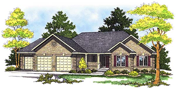 Traditional House Plan 99180 Elevation