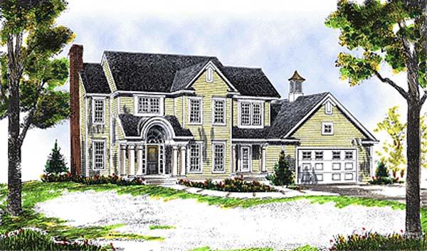 Country European Farmhouse House Plan 99182 Elevation